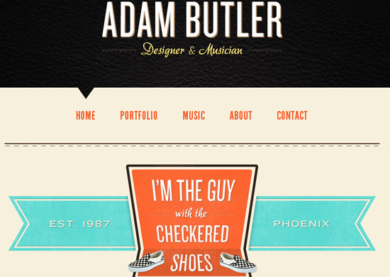 Adam Butler 40 Vintage and Retro Web Design Inspirations