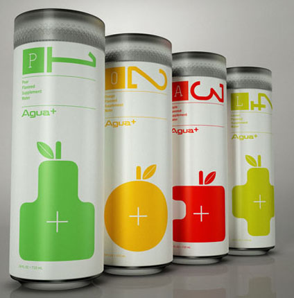 Agua+ 50 Fantastic Examples of Beverage Packaging Design
