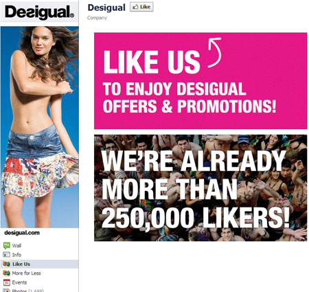 Desigual 40 Facebook Fan Page Designs and Practices