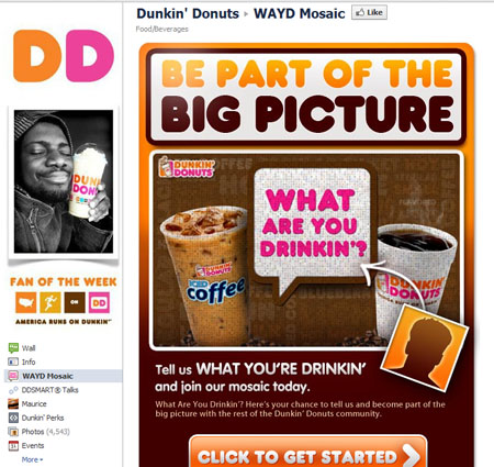 DunkinDonuts 40 Facebook Fan Page Designs and Practices