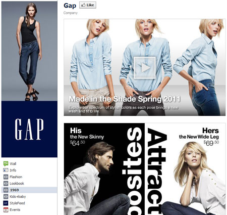 Gap 40 Facebook Fan Page Designs and Practices