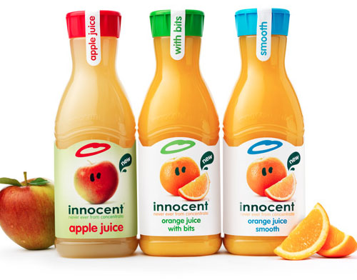 Innocent Drinks 50 Fantastic Examples of Beverage Packaging Design