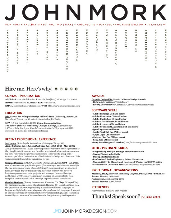 JohnMork Resume 30 Amazingly Creative Examples of Designer Resumes