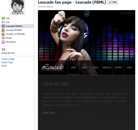 Leucade 40 Facebook Fan Page Designs and Practices