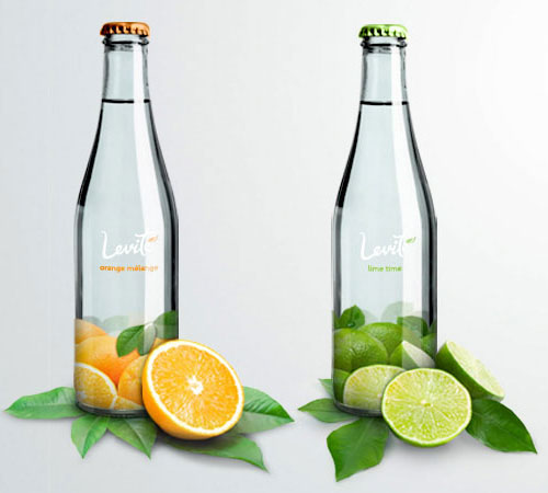 Levité Mineral Water 50 Fantastic Examples of Beverage Packaging Design