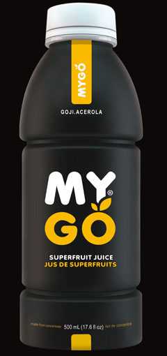 MYGO Superfruit 50 Fantastic Examples of Beverage Packaging Design