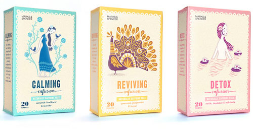 Marks Spencer Tea 50 Fantastic Examples of Beverage Packaging Design