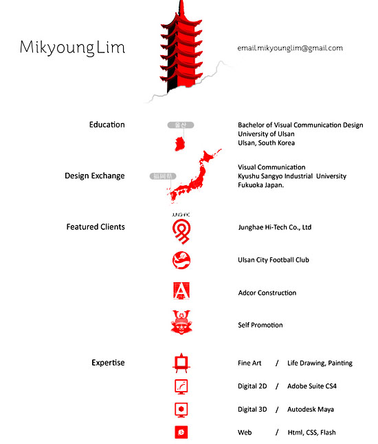 Mikyoung Lim 30 Amazingly Creative Examples of Designer Resumes