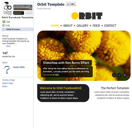 Orbit Facebook Template 40 Facebook Fan Page Designs and Practices