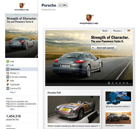 Porsche 40 Facebook Fan Page Designs and Practices