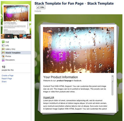 Stack Template 40 Facebook Fan Page Designs and Practices