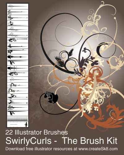Swirly Curls   Sick Brush Kit by namespace1 50 Beautiful Free Adobe Illustrator Vector Brushes
