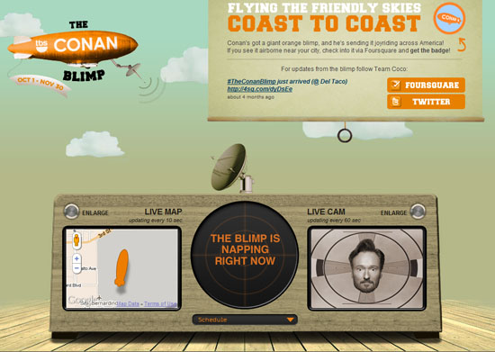 The Conan Blimp 40 Vintage and Retro Web Design Inspirations