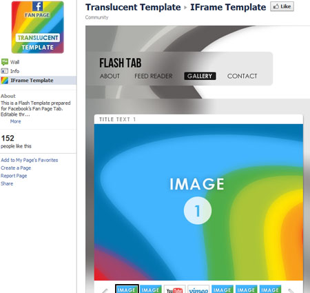 Translucent 40 Facebook Fan Page Designs and Practices