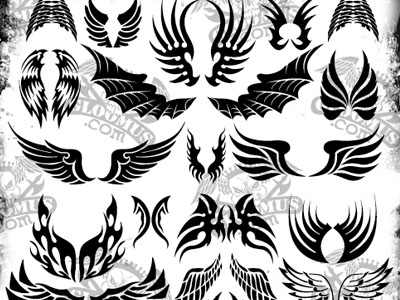 Vector Tattoo Wings 50 Beautiful Free Adobe Illustrator Vector Brushes