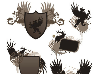 Wings Coat of Arms 50 Beautiful Free Adobe Illustrator Vector Brushes