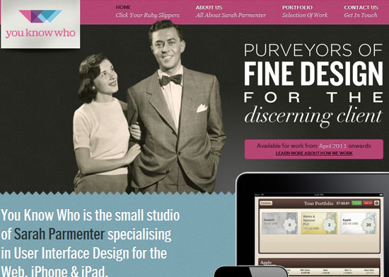 Youknowwhodesign 40 Vintage and Retro Web Design Inspirations