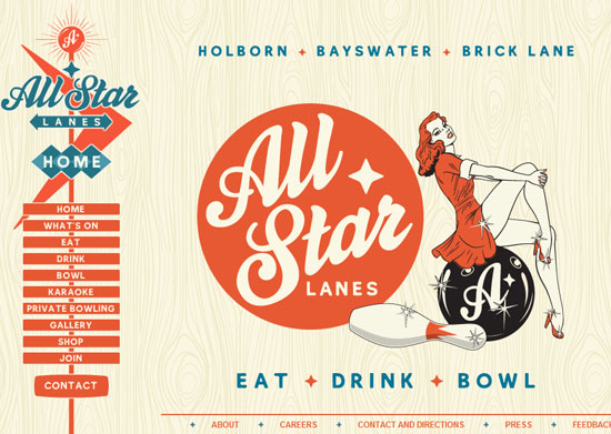 allstarlanes 40 Vintage and Retro Web Design Inspirations