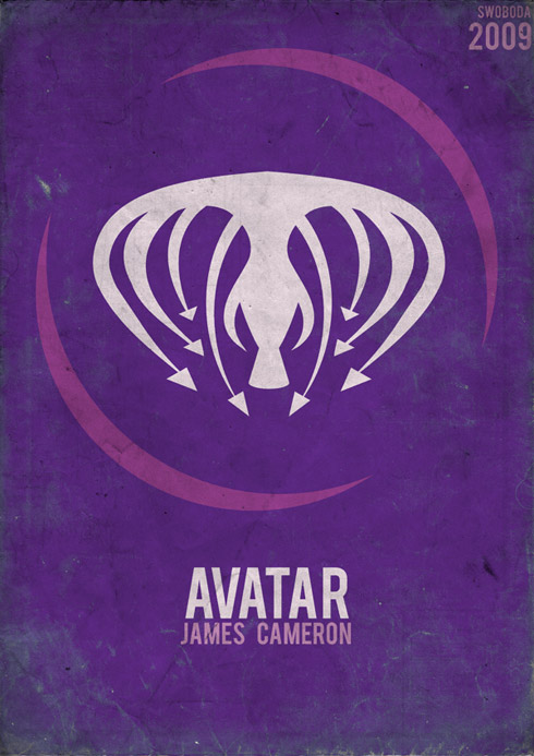 avatar1 70 Powerful Examples of Minimal Movie Poster Designs