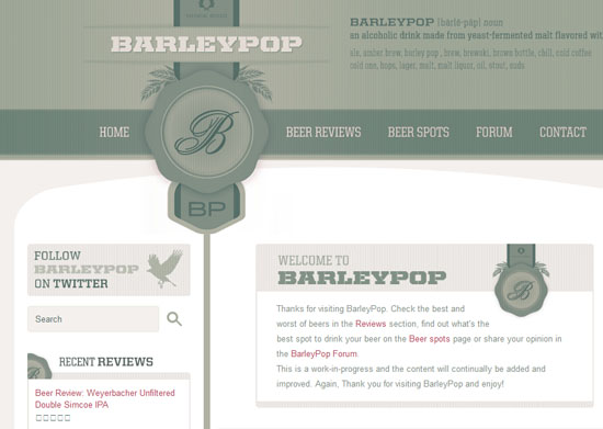 barleypop 40 Vintage and Retro Web Design Inspirations