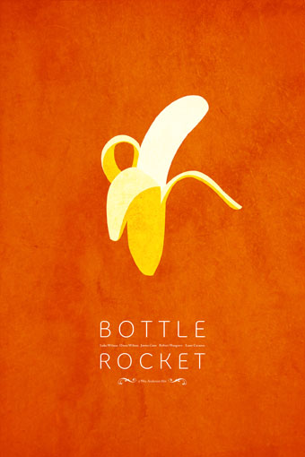 bottlerocket1 70 Powerful Examples of Minimal Movie Poster Designs