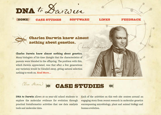 dnadarwin 40 Vintage and Retro Web Design Inspirations