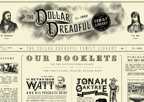 dollardreadful 40 Vintage and Retro Web Design Inspirations