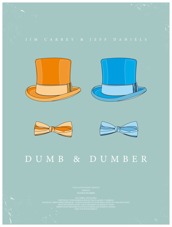 dumbdumber1 70 Powerful Examples of Minimal Movie Poster Designs