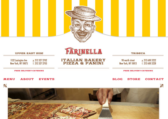 farinellabakery 40 Vintage and Retro Web Design Inspirations