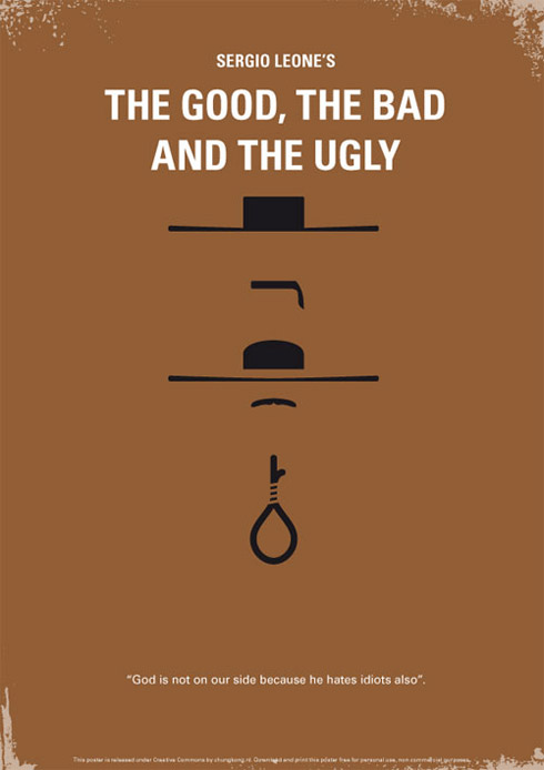 good1 70 Powerful Examples of Minimal Movie Poster Designs