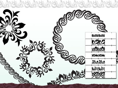illustrator Ornate borders 50 Beautiful Free Adobe Illustrator Vector Brushes