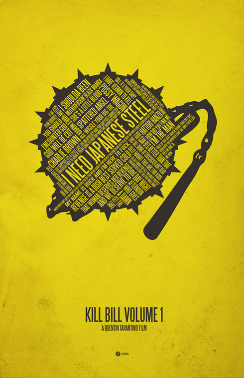 kill bill1 70 Powerful Examples of Minimal Movie Poster Designs