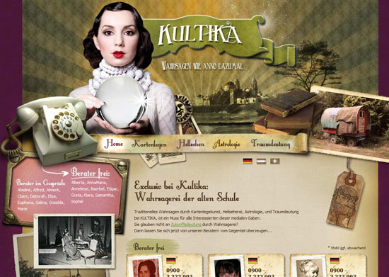 kultika 40 Vintage and Retro Web Design Inspirations
