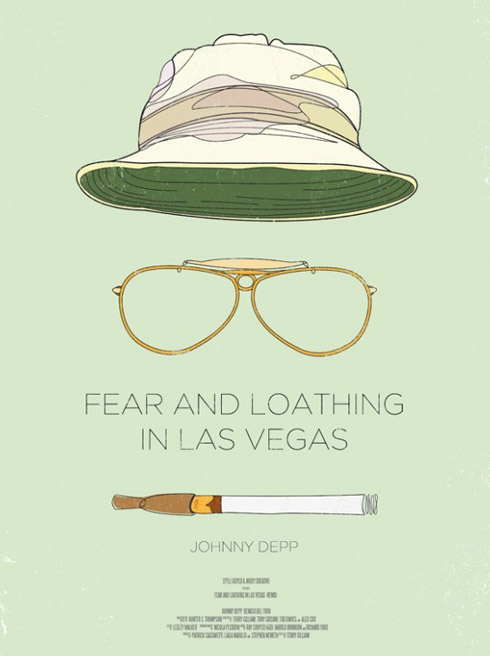 las vegas1 70 Powerful Examples of Minimal Movie Poster Designs