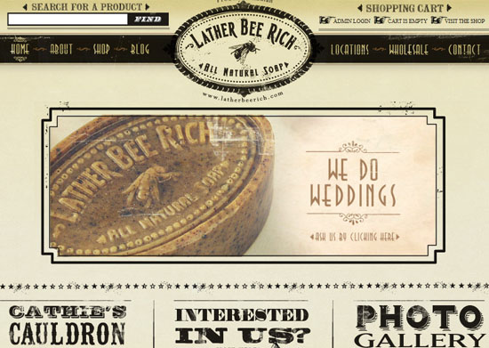 latherbeerich 40 Vintage and Retro Web Design Inspirations