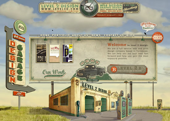 level2d 40 Vintage and Retro Web Design Inspirations