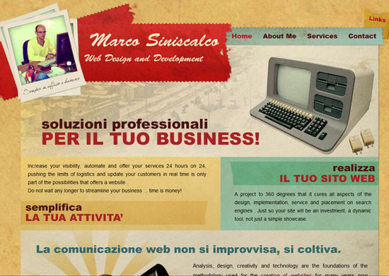 marcosiniscalco 40 Vintage and Retro Web Design Inspirations
