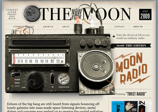 nymoon 40 Vintage and Retro Web Design Inspirations