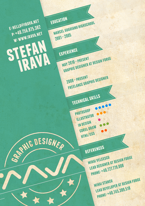 original2 30 Amazingly Creative Examples of Designer Resumes