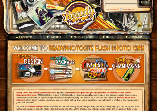 readyphotosite 40 Vintage and Retro Web Design Inspirations