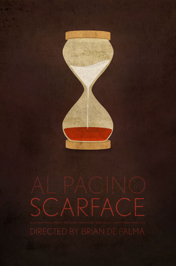 scarface1 70 Powerful Examples of Minimal Movie Poster Designs