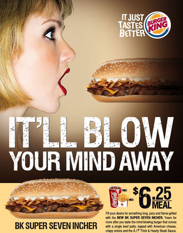 sexy ads burger king1 Sex Sells, 50 Creative Sexual Advertisements