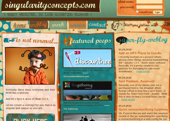 singularityconcepts 40 Vintage and Retro Web Design Inspirations