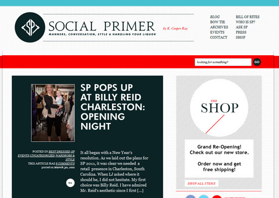 socialprimer 40 Vintage and Retro Web Design Inspirations