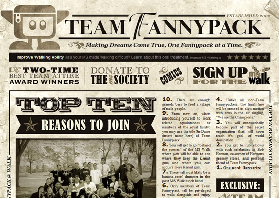 teamfannypack 40 Vintage and Retro Web Design Inspirations
