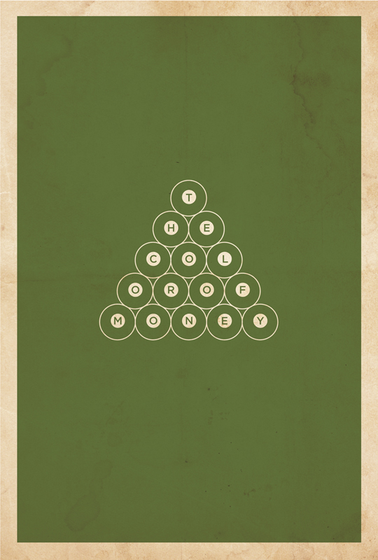 thecolorofmoney1 70 Powerful Examples of Minimal Movie Poster Designs