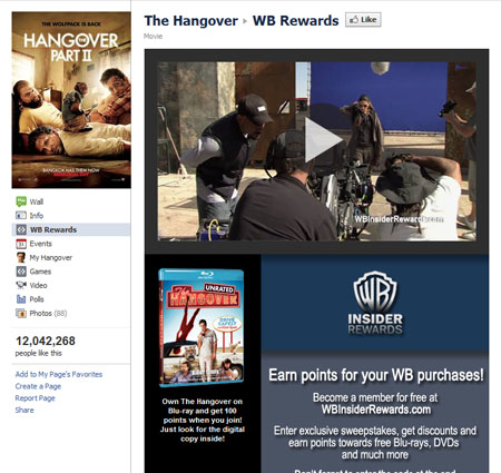 thehangover 40 Facebook Fan Page Designs and Practices