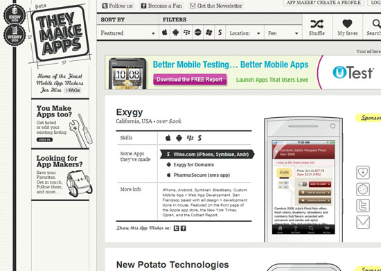 theymakeapps 40 Vintage and Retro Web Design Inspirations