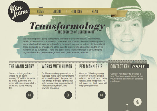 transformology 40 Vintage and Retro Web Design Inspirations
