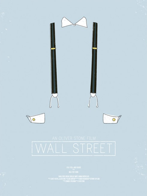 wall street1 70 Powerful Examples of Minimal Movie Poster Designs